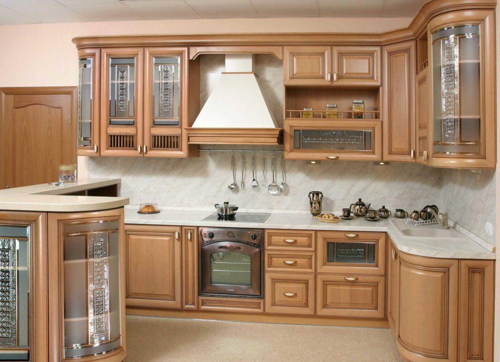 различных размеров кухни из массива дерева фото дочь